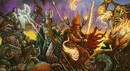 Pat Loboyko Mago Alto Elfo Hechicero de Batalla Imperio Hombres Bestia