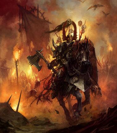 Portada Omens of War por Daarken Paladín del Caos