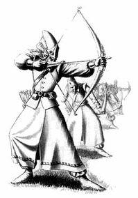 Arqueros altos elfos dibujo