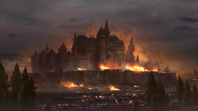 Ciudad del Imperio Asedio arte Warhammer Total War