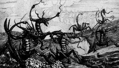 Diablos de slaanesh por Tony Ackland