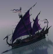 Nave Corsarios Elfos Oscuros por Michael Phillippi Warhammer Online Age of Reckoning 02