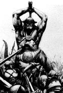 Ogro dragon barbaros por Adrian Smith