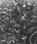 Señor de las Bestias Skaven con Horda de Ratas por Mark Gibbons