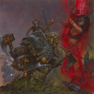 Adrian Smith Enano Rompehierros contra Hechicera Elfa Oscura