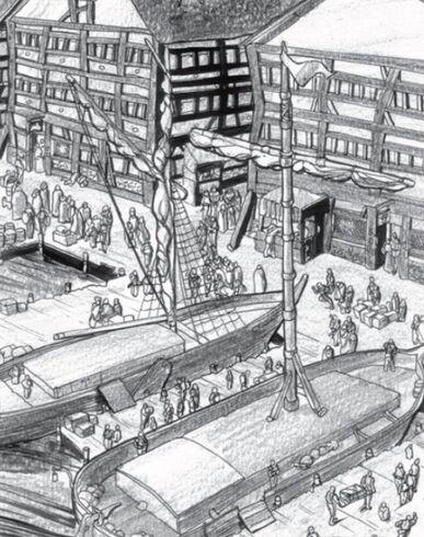 Barcazas puerto por Tony Parker
