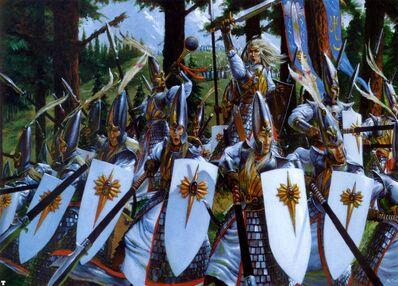 Lanceros Altos Elfos por Adrian Smith imagen caja