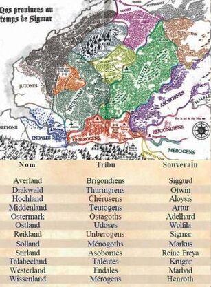 Provincias, tribus y lideres
