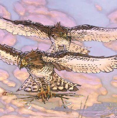 Águilas de la agulera del Amanecer por Chuck Lukacs