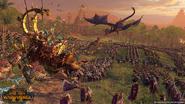 Hombres lagarto vs druchi warhammer total war