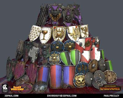 Torre escudos warhammer total war por Paul Presley