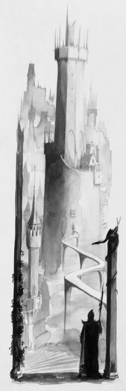 Ciudadela Elfos Oscuros por Dave Gallagher