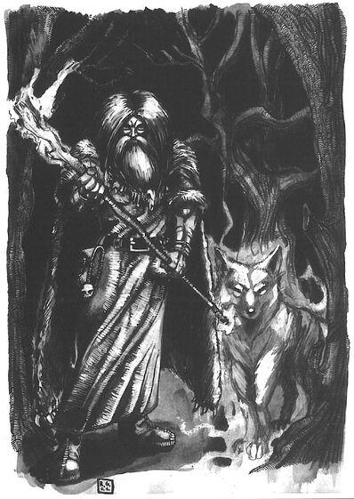 Hechicero Ámbar y Familiar por Radoslaw Gruszewicz