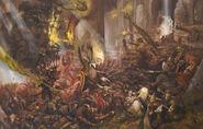 Batalla de los Cien Pilares por Alex Boyd Enanos Skavens
