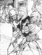 Mutante araña por Russ Nicholson