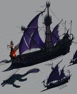 Flota Elfos Oscuros por Michael Phillippi Warhammer Online Age of Reckoning