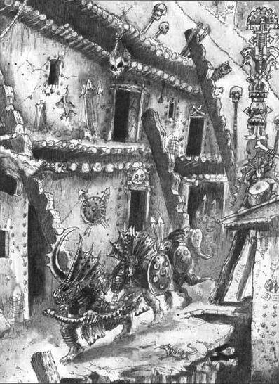 Ciudad Templo por John Blanche Eslizones