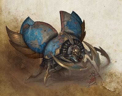 Titán de Khemri Reyes Funerarios Sam Lamont Forge World ilustración