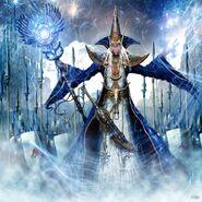 Kyrlranlaer Silvershor por Clint Langley Mago Altos Elfos
