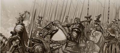 Tormenta del Caos Fuerzas de la Luz Tiernen Trevallion illus14 Karl Franz Valten