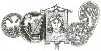 Estandarte y escudos elfos silvanos