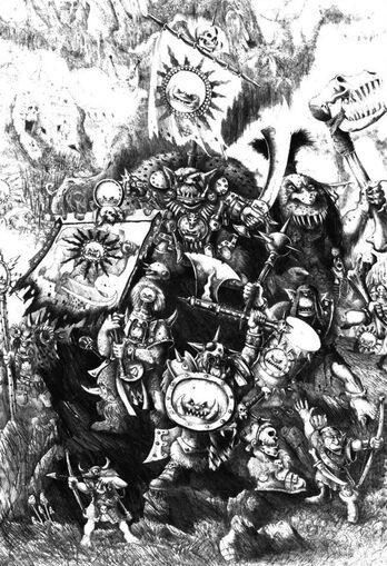 Gorfang Rotgut por John Blanche Orcos y Goblins
