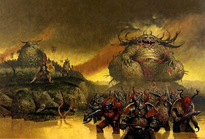 Portada Realm of chaos the lost and the damned por Les Edwards Gran Inmundicia