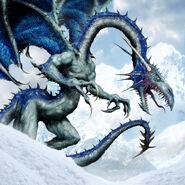Dragón élfico por Clint Langley