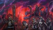 Ejército Elfos Oscuros Warhammer total war concept art