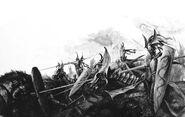 Carga de Príncipes Dragón por Paul Dainton Altos Elfos