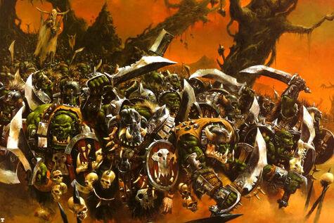 Imagen caja Guerreros Orcos por Adrian Smith