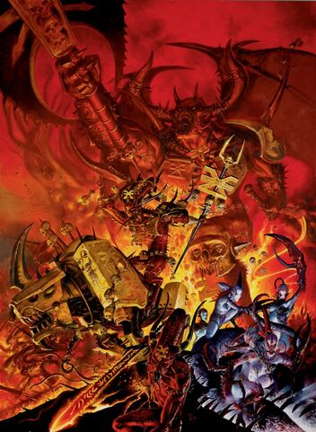 Portada libro de Ejército Demonios del Caos 7ª edición por Adrian Smith