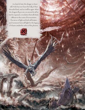 Altos elfos volando sobre tormenta