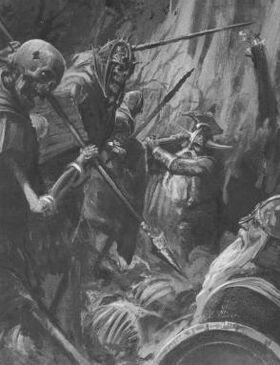 Enanos contra Guerreros Esqueletos