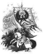 Portaestandarte Alto Elfo por John Blanche
