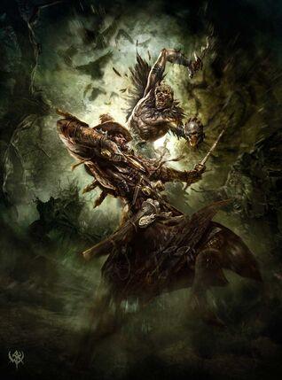 Cazador de Brujas contra Fanático del Caos