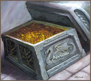 Cofre lleno de oro por Rick Sardinha