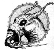 Diablo de slaanesh cara por Tony Ackland
