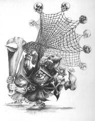 Goblins Nocturnos con redes y garrotes por Mark Gibbons