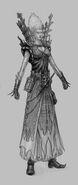 Hechicera Brillante 04 boceto 01 Warhammer Online por Michael Phillippi