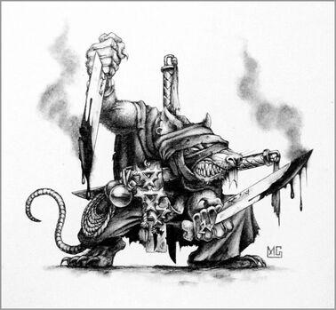 Asesino Skaven por Mark Gibbons
