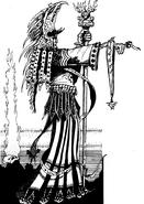 Hechicero de khorne por John Blanche
