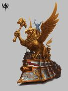 Tanque a Vapor Imperial Warhammer Onliene por Michael Phillippi