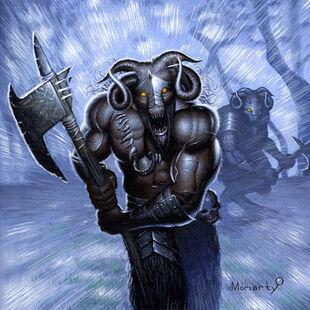 ¡Carga! de John Moriarty Hombres Bestia Warhammer card game