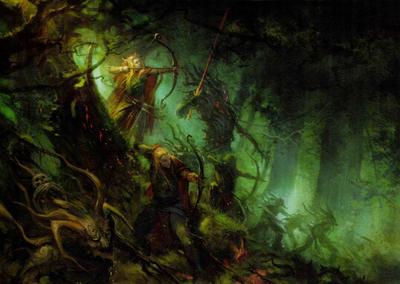 Elfos silvanos driades hombres arbol