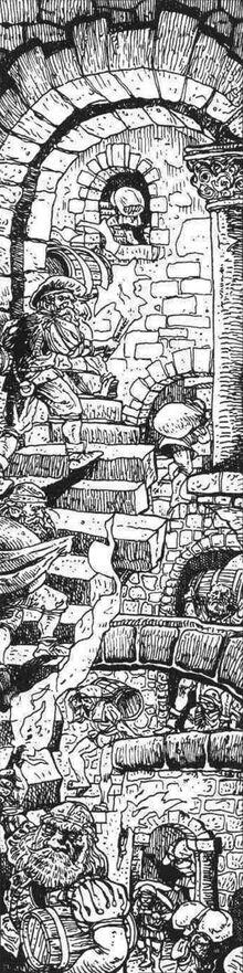 Escaleras ciudad Marienburgo por Russ Nicholson