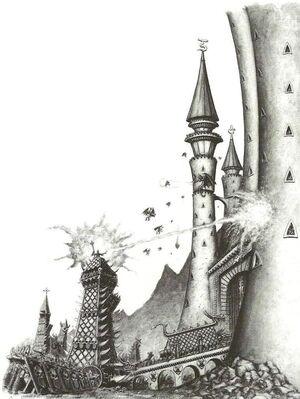 Elfos Oscuros Asediando Ciudad Altos Elfos