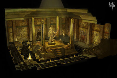 Interior Templo Reyes Funerarios por Matthew Starbuck