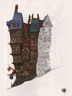 Altdorf Bloque de Edificios por Jonathan Kirtz Warhammer Online