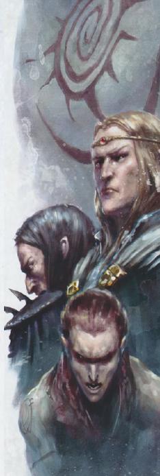 Alto elfo Oscuro y Silvano